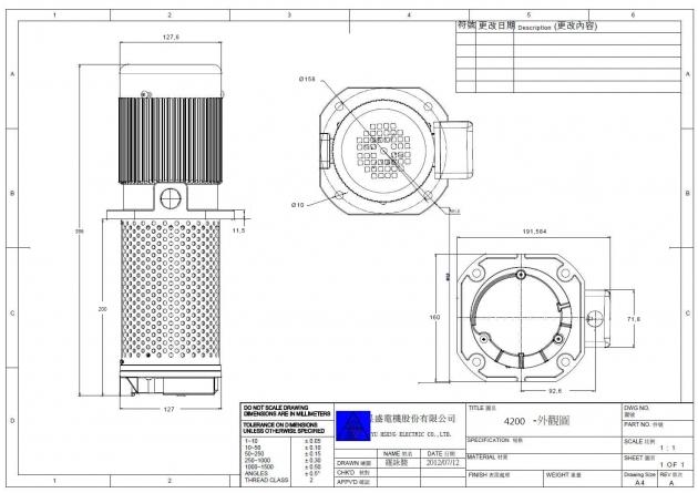 TC-4200 1/4HP Machinery Coolant pump immersion 200mm (8