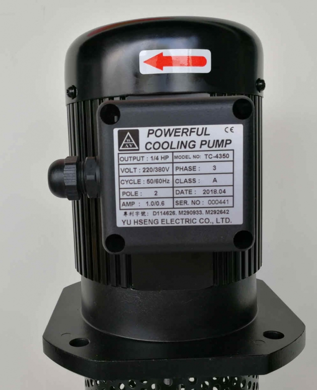 TC-4350 1/4HP Coolant pump, 350mm (13.8
